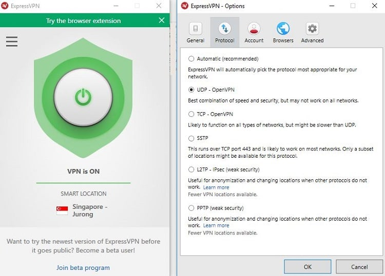 ExpressVPN Windows App