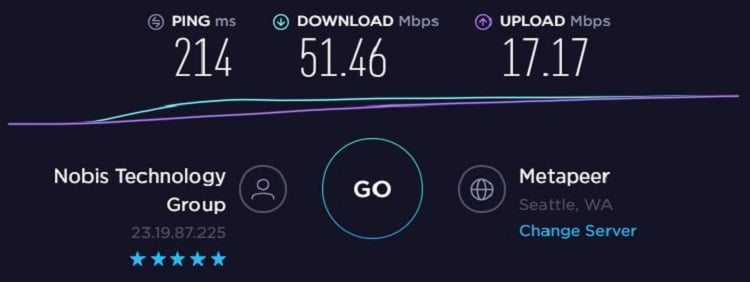 Nord Speedtest - US
