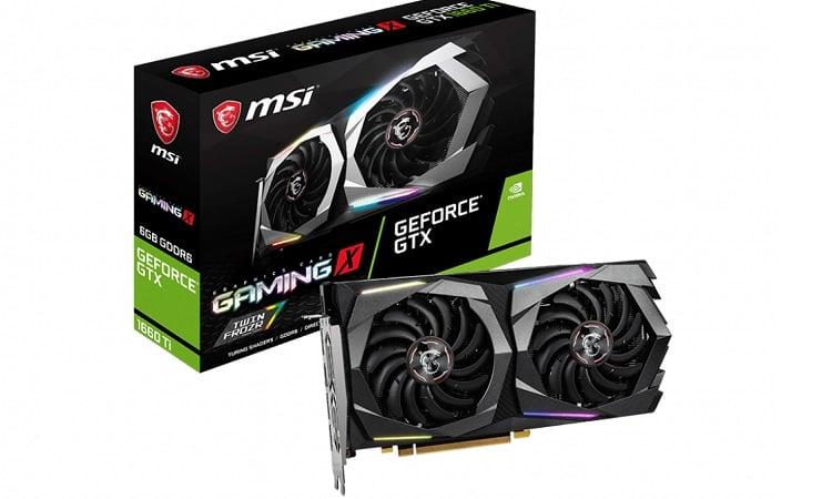 MSI Gaming GeForce GTX 1660 TI Gamin X 6G